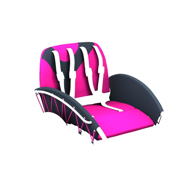 YippieYo seat cover magenta/anthracite