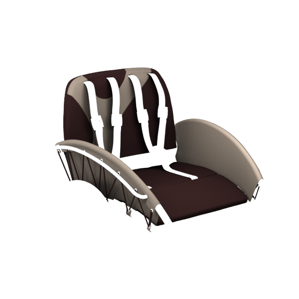 YippieYo seat cover darkbrown/beige