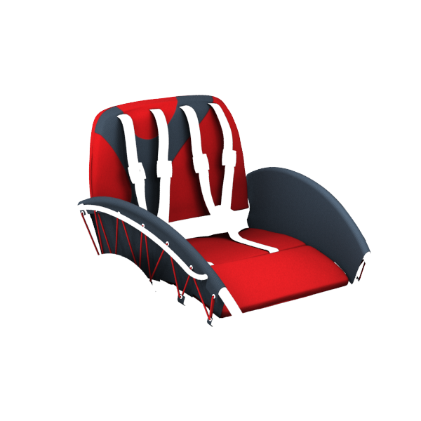 YippieYo seat cover red/anthracite
